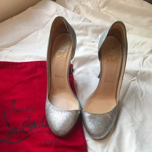 Christian Louboutin Helmour 100 37.5 Silver